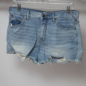 Free People High Rise Cut Off Shorts Size 30